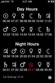 planetary hours